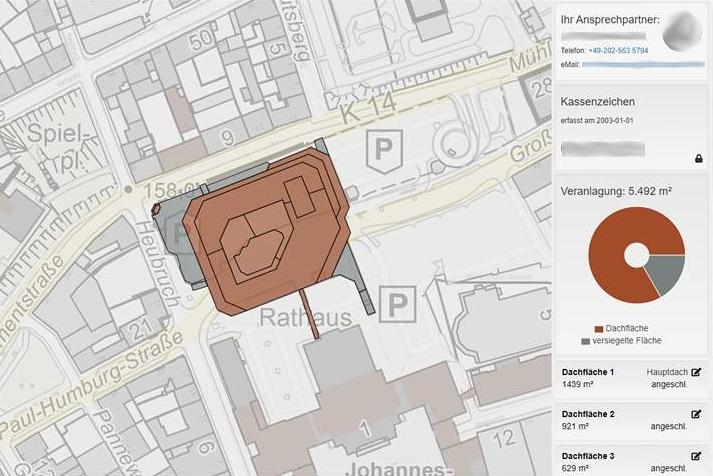 VerDis-Online Darstellung am Beispiel des Rathauses Barmen
